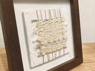 草木染めフレーム織り〜薄墨色からの白銀〜Dec.の画像