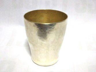純銀製 お猪口 鎚目の画像