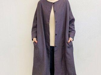 en-enリネン・ドルマン袖コート・濃いめグレー(裏地付き)の画像