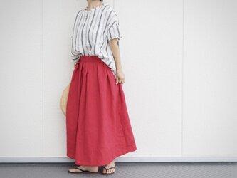 赤いリネンのスカート No.119の画像