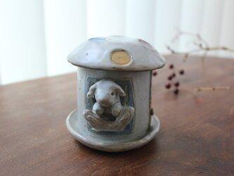 きのこ茶香炉  うさぎ お香立て付きの画像