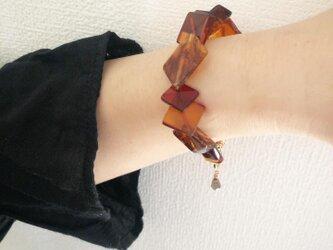 森の宝石 mori no hoseki 琥珀 (ブレスレット) ブラウン琥珀の画像