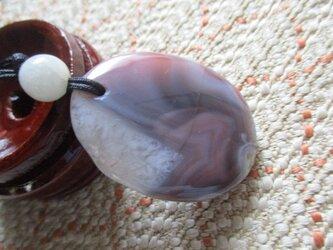 南紅瑪瑙とミャンマー翡翠 お紐仕立てストラップもしくはネックレスの画像
