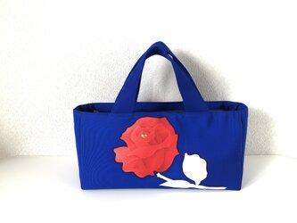 帯バッグ〜赤い薔薇〜の画像