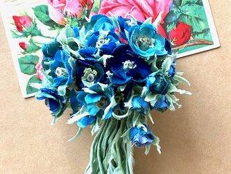 布花 Blue only bouquet corsageの画像