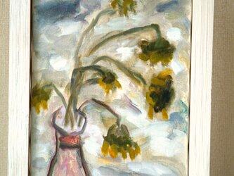 枯れたヒマワリの画像