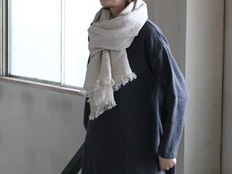 【秋支度SALE】大判ストールW70 先染めリトアニアリネン の画像