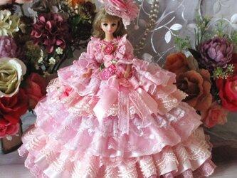 夢見るシンデレラ 妖精が舞うロマンティックミルフィーユドレス 甘さ薫る豪華13段フリルの画像