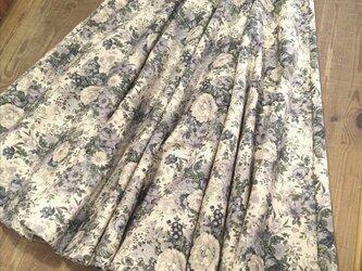 フルフレアロングスカート(ブルー)の画像