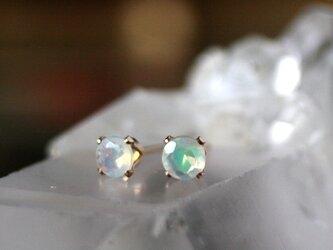 宝石質AAA 天然石オパール 14kgfピアス クリスマス 誕生日 プレゼント 10月誕生石 パワーストーンの画像