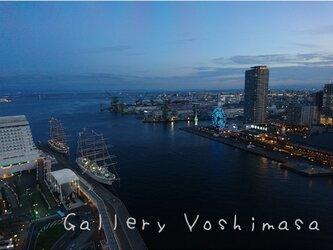 みなと神戸に咲く華 「夕夜景」 「港のある暮らし」2L判サイズ光沢写真横  写真のみ  神戸風景写真の画像