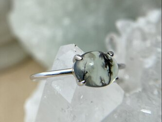 11号/天然ブルーオパールシルバーリング/原石から磨いた1点ものジュエリー!の画像