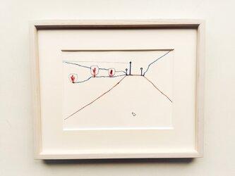 「道/ドローイング」イラスト原画 ※木製額縁入りの画像