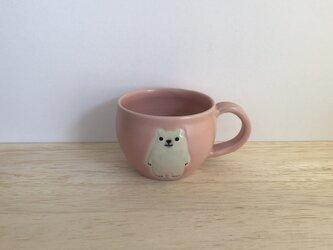 シロクマのマグ(ピンクA)の画像