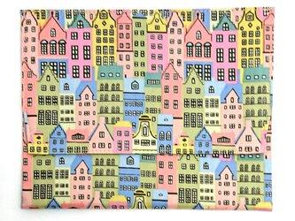 通帳・お薬手帳入れ入れ リバティプリント(Copenhagen Street) の画像