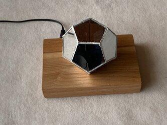 多面体ミラー万華鏡 正十二面体- ムービングサークル 赤外線リモコンで内蔵LEDを制御できますの画像