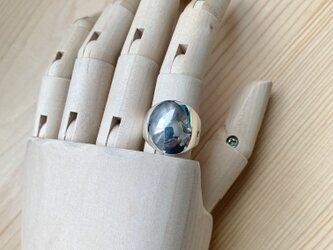 純銀 満月の指輪 S ♯11の画像