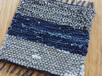 【裂き織り】リネンのコースター#05の画像