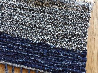 【裂き織り】リネンのコースター#07の画像