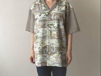着物で作ったアロハシャツ 染め物屋の画像