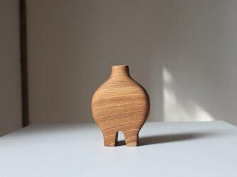 木の花瓶【タモ】の画像