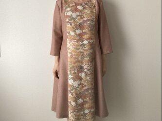 着物リメイクワンピース 四季の花と江戸小紋の画像