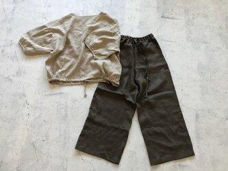 [秋支度]LINENロングシャツ リトアニアリネンの画像