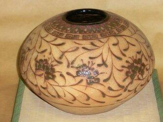 萬古焼唐草文 壺の画像