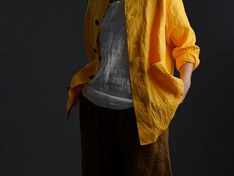 【wafu 入門編】Linen Jacket 数限定!男女兼用 ハンドワッシャー / ディープサンフラワー h031c-dsf2の画像