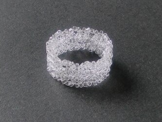 Lacy Grass Ring / クリアの画像