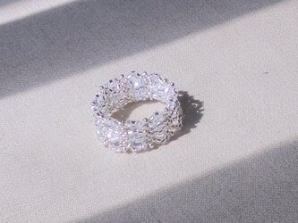 Lacy Grass Ring / クリアシルバーの画像