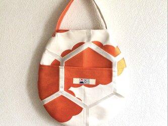 まんまるトートバッグ【送料無料】2way仕様 オレンジの画像