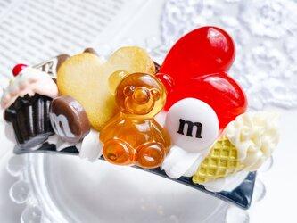CANDY POP  strawberry お菓子のバレッタ フェイクスイーツの画像