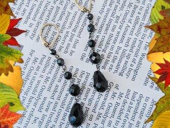 ☆シックなblack earrings☆の画像