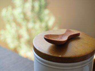 (再出品)木のシュガースプーン(マホガニー)A001-0の画像