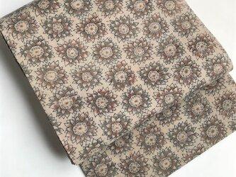 古布の花柄更紗の名古屋帯【送料無料】の画像