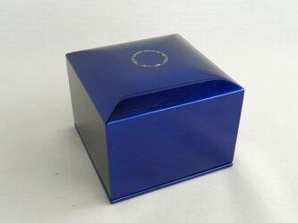 マリンブルー二段宝石箱 螺鈿サークルの画像