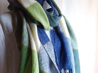 手織りストール ~wool~ #9の画像