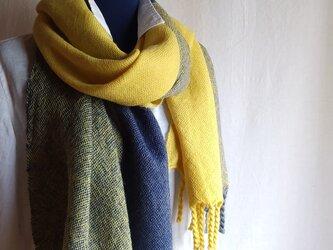 手織りストール ~wool~ #14の画像