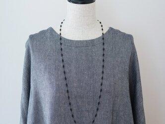 long necklace silk オニキス2の画像