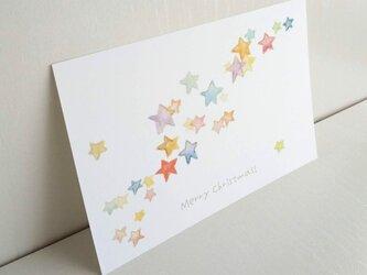 「メリークリスマス 星たち」 ポストカード /3枚セット naturakoの画像