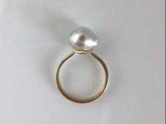 黒蝶真珠・K18指輪 #10の画像