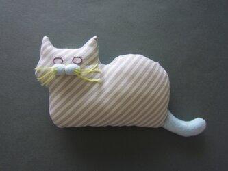 """"""" Stickitten"""" kitten loaf USAコットン/Diagonal Stripes グレーの画像"""