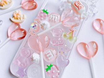 CANDY POP 苺ミルク お菓子のiPhone12miniケースの画像