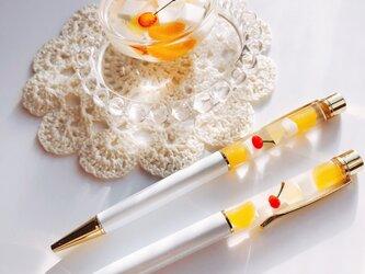 杏仁豆腐のボールペン  フェイクスイーツ スイーツデコの画像