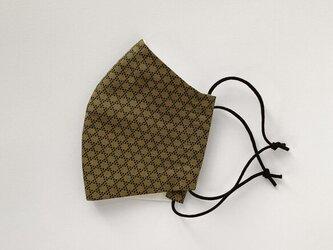 籠目文様の和モダンマスク 手縫いの画像