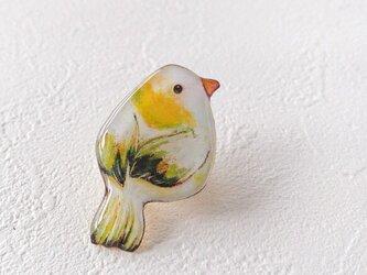 心に住む鳥(黄緑)の画像