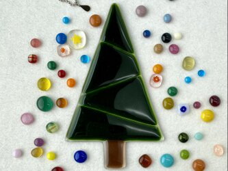 『自分で作るガラスのクリスマスツリーセット』Green③モスグリーン(少しラメ入り)の画像