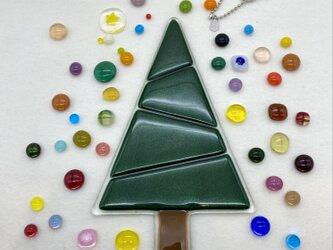 『自分で作るガラスのクリスマスツリーセット』Green①アヴェンチュリングリーンの画像