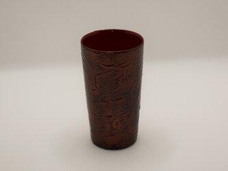 ショットグラス 銅粉蒔き研出摺漆の画像